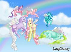 Flutter ponies by LazyJenny.deviantart.com on @deviantART