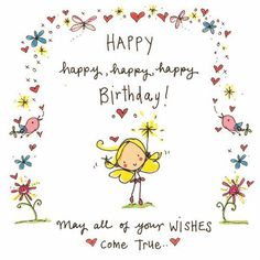 happy birthday, cartoon, and happy Bild