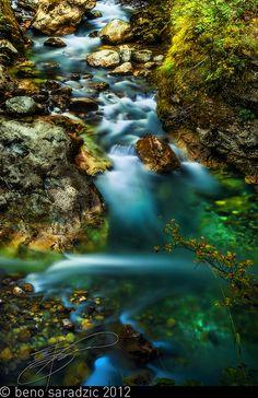 Tolmin Gorge, Slovenia by Beno Saradzic