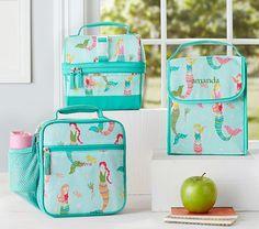 c175df4bdd Mackenzie Aqua Mermaids Classic Lunch Bag