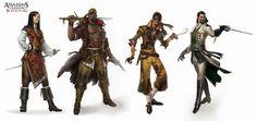 Assassin's Creed Golden Age Character design, johan grenier on ArtStation at http://www.artstation.com/artwork/assassin-s-creed-golden-age-character-design