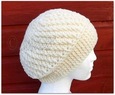 Accidental Spiral Slouch Hat. FREE pattern!                              …