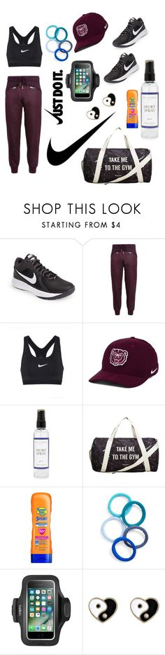 """""""NIKE💎"""" by tala-2004 ❤ liked on Polyvore featuring NIKE, adidas, The Laundress, MANGO, Banana Boat, L. Erickson, Belkin and Accessorize"""
