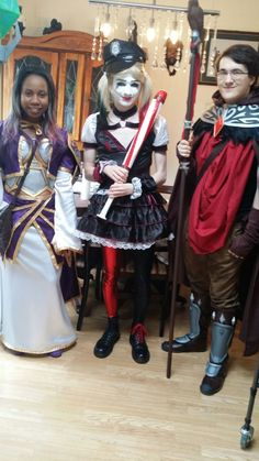 Jaina Proudmoore,Harley quinn and Medivh Cosplay