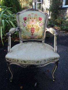 Pretty chair for a shabby chic look.