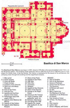 Basilica di San Marco - Floor plan map