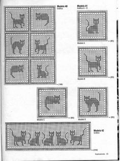 "Photo from album ""nov 2016 6 on Yandex. Christmas Crochet Patterns, Afghan Crochet Patterns, Filet Crochet, Diy Crochet, Graph Design, Cross Stitch Animals, Garter Stitch, Plastic Canvas Patterns, Crochet Fashion"