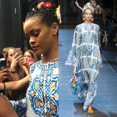Rihanna in @dolcegabbana's Spring 2016 Ready-to-Wear collection.  #DolceGabbana