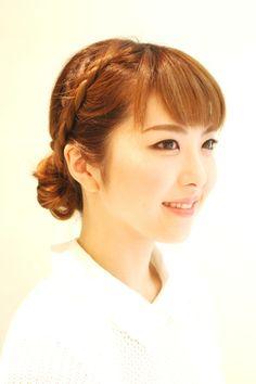 Hairstyles 2014 - braided bun | ヘアスタイル 2014 - 編み込み+三つ編みお団子 (ヘアスタイリスト 前田 真吾)
