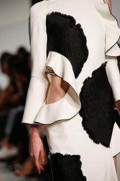 Cutout dress with frills & oversized applique; fashion details // Proenza Schouler Spring 2016
