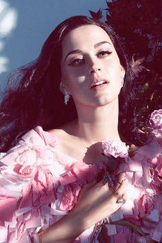 Katy Perry: The Feminine Mystique  Chanel dress, $37,050, 800-550-005; Harry Winston earrings, price upon request, 800-988-4110; Delfina Delettrez ring, $890,