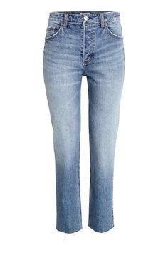 Girlfriend Regular Jeans - Denimblauw - DAMES | H&M BE