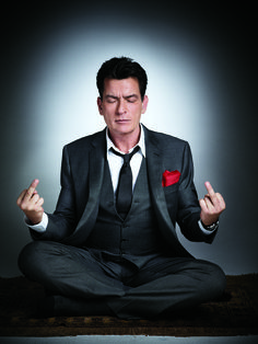 Charlie Sheen's early 4th of July present for you, America. This comes from our shoot with the wild actor as a part of Michael Ware's big sassy profile, which you'll find online and in this week's issue. If you're into Mr. Sheen and want some extra craziness, check out the iPad app. He breaks your screen. With a hammer. It's quite frightening! [Photo: Gavin Bond for Newsweek] For SirCurtish!