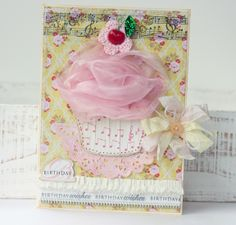 Beautifully done...love the use of tulle on the cupcake  paperiesweetness.blogspot.com