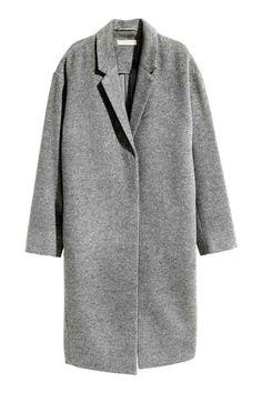 Mantel van kasjmiermix - Grijs - DAMES | H&M BE