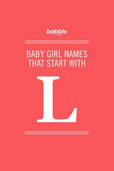 We love these beautiful baby names! From Lily, Lisa and Lila to Liberty, Layla or Lynn, there are so many unique and rare names out there for your little one.