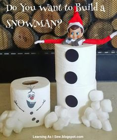 Hottest Snap Shots Learning As I Sew.bake, cut, and create: Elf on the Shelf: Do you want to buil. Style Learning As I Sew…bake, cut, and create: Elf on the Shelf: Do you want to build a SNOWMAN? Olaf Snowman, Build A Snowman, Christmas Elf, All Things Christmas, Christmas Ideas, Elf Auf Dem Regal, Elf Magic, Elf On The Self, Naughty Elf