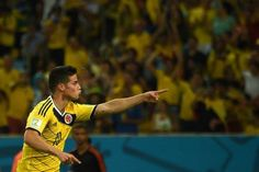 James Rodrigues during Colombia win over Uruguay