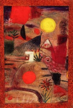 "chimneyfish: "" Ceremony and Sunset, 1920 Paul Klee """