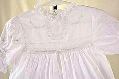 Heiloom Water Fall Christening Dress by giggledoodles on Etsy, $300.00