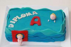 Swimming certificate cake