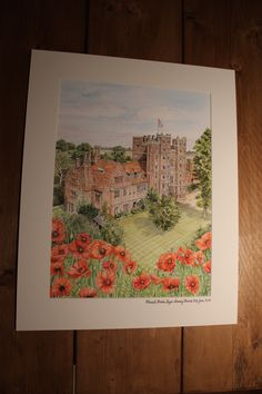Layer Marney Towers watercolour