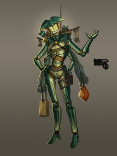Crustacean Alien Merchant Concept