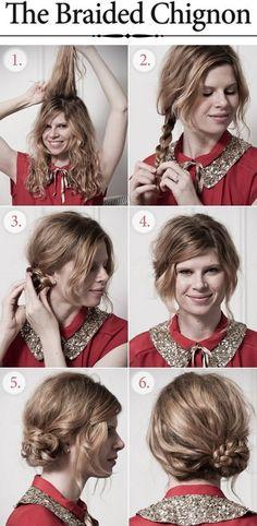 Chignon con treccia, ecco 5 tutorial - DimmiCosaCerchi.it