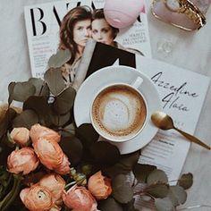 Идея фото для инстаграм. Весенняя раскладка, кофе и вдохновение, flatlay весна #весна #flatlay #instagram #вдохновение
