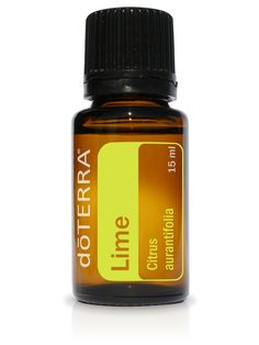 PRODUCT DESCRIPTION  Cold-pressed from the peel of fresh limes, dōTERRA Lime essential oil is  refreshing and energizing in both aroma and taste. Limes are frequently  used in entrées and beverages for their fresh, citrus flavor. Due to its  high limonene content, Lime provides internal cleansi
