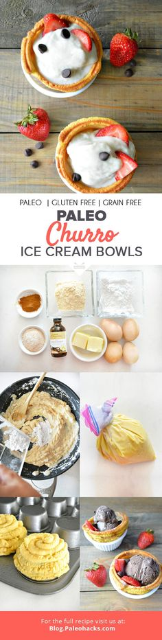 If you're looking for a frozen treat that's dairy-free and Paleo-approved, try this recipe for churro ice cream bowls.