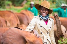 Lupita Nyong'o, fighting against ivory poaching and lending her voice to elephant conservation!