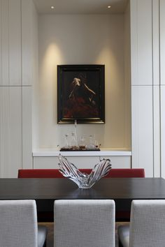 Artwork in the dining area