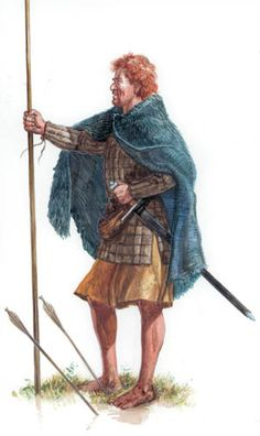 """""""Scottish foot-soldier that fought at the Battle of the Standard, August 22 for King David l of Scotland.""""-The leaders of the Anglo-Norman armies wore the best and most complete armor. Scottish Army, Scottish Warrior, Irish Warrior, Celtic Clothing, Medieval Clothing, Medieval Knight, Medieval Fantasy, Celtic Warriors, Wars Of The Roses"""