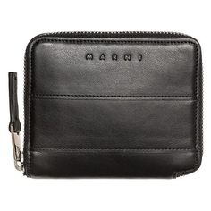 Marni Wallet (1.320 BRL) ❤ liked on Polyvore featuring men's fashion, men's bags, men's wallets, black, mens zip around wallet and mens credit card holder wallet