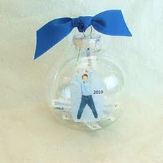 Time Capsule Ornament.  Very cute idea to do each year - include your child's interests, wish list items, photo, etc.