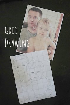 Great Family Project! Grid drawing with kids- it's so fun to see how excited they get with their results. From @Artchoo! (Jeanette Nyberg)