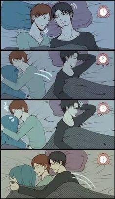 Riren    Eren & Levi are sleeping together    Attack on Titan