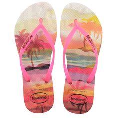 Havaianas Slim Paisage Ladies Flipflops - Beige