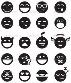 Black Smiles — JPG Image #problem #joy • Available here → https://graphicriver.net/item/black-smiles/3251402?ref=pxcr