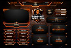 Make Animated Twitch Overlay for Pro Gamer and Streamer for : erdedsgn - fivesquid Game Card Design, Book Design Layout, Banner Design, Youtube Design, Gaming Banner, Sports Graphic Design, How To Make Animations, Design Reference, Streamers