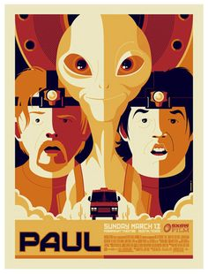"strongstuff retro poster-20 ""Paul"" this is a very funny UFO movie. its on…"