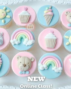 Baby Shower Cupcakes, Fondant, Sugar, Cookies, Desserts, Food, Craft, Manualidades, Crack Crackers