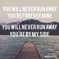 You Will Never Run Away - Rend Collective.  This song is a great reminder that no matter what we do or how badly we fail, God will never forsake us.