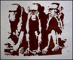 3 Wise Monkeys (Zombie Arttack) Tags: monkey stencil guysartwork