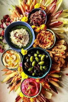 The Ultimate Vegan Appetizer Platter from http://HeatherChristo.com
