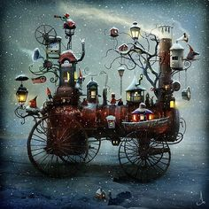 The Whimsical Art of Alexander Jansson - I want to see a movie that looks like this!