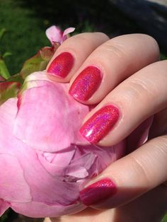 One of my favorites! Raspberry Cordial Full Sized Holographic Nail Lacquer : Green Gables Collection