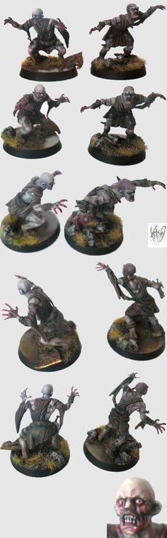 I might try this color scheme for my zombicide miniatures.
