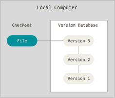 Local version control diagram VCS: Version Control System